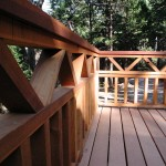 Trailhead Cabin Milled Deck Rail Detail - Twain Harte