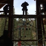 High Sierra Lodge Course of Construction Large Window Wall  Installation - Strawberry